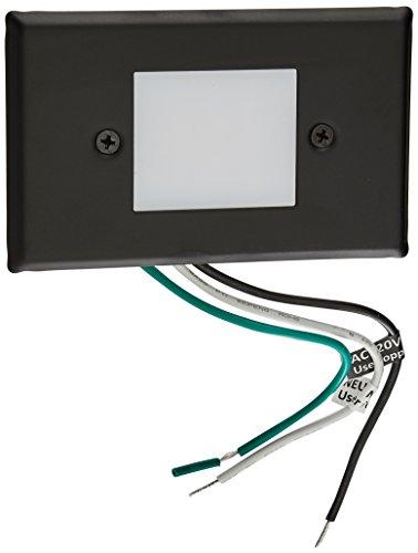 Elco Lighting ELST66B 120V LED Mini Step Light with Smooth White Acrylic Lens