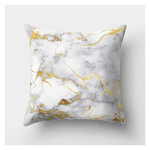 SLZC Breve mármol Geométrico Sofá Cubierta Decorativa Cubierta de Almohada Funda de Almohada Poliéster 45 * 45 Tiro Almohada Decoración para el hogarCubierta de Almohada (Color : 15)