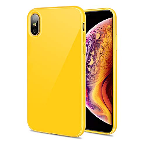 Resistente a Golpes y ara/ñazos, Apta para iPhone XS MAX de 16,5 cm Color Amarillo Diwangs Carcasa para iPhone XS MAX
