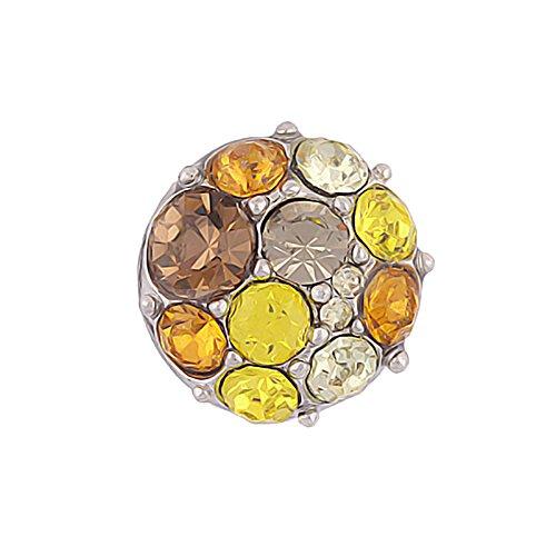 Mini Click Small Button Druckknöpfe Petite klick Armband kompatibel mit Chunks Gold Farben Damen Armreif Modele 12mm Auswahl Kirschen Sterne Strass 12mm Schmuck kleine knöpfe Snaps - Akki 050Y