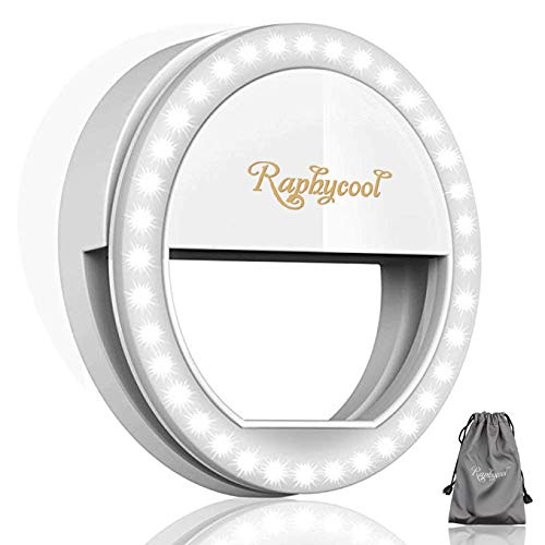 RC Selfie Ring Light for Phone Camera Photography Video, Clip-on iPhone Samsung Galaxy S7 HuaWei, White