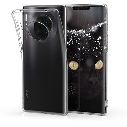 kwmobile Cover Compatibile con Huawei Mate 30 PRO - Custodia in Silicone TPU - Back Case Protezione Posteriore - Trasparente