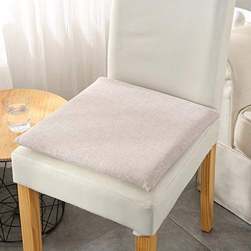 No/Brand Memory Foam Seat Cushion, Machine Washable Square Desk Chair Cushion, Beige Seat Cushion for Office Chair Dining Room Chairs 15x15 inches