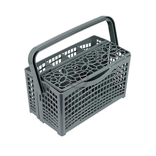 Cesta de cubiertos para lavavajillas, universal, divisible, 134 x 138 x 260 mm, repuesto para lavavajillas, lavavajillas como Miele, Bauknecht, Bosch, Whirlpool