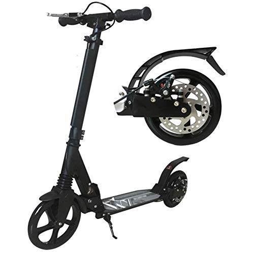 Scooter Patinete Montar portátil al aire libre kick scooter-adulto Vespa con discos de freno de mano, Doble Suspensión plegable Velero, 2 grandes ruedas de caucho y regulable en altura, Apoyo 330 Lb,