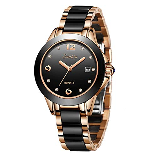 SUNKTA Women Reloj De Pulsera Luxury-Business Stainless Steel Quartz Analogous 6615