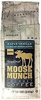 Harry & David Maple Vanilla Moose Munch Gourmet Coffee | 12 Ounces Ground Café Beans