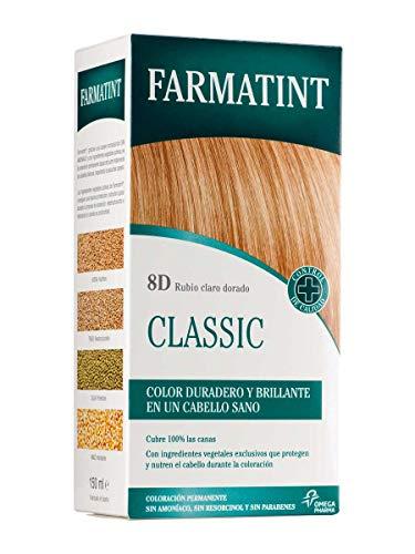 Farmatint Tinte 8D Rubio Claro Dorado, 150ml