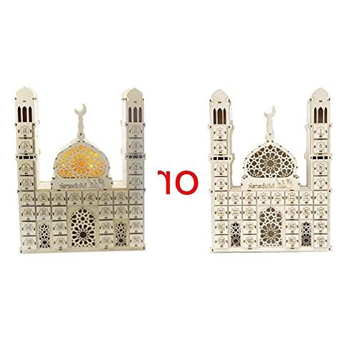 Eid Mubarak Countdown Kalender DIY Hout Ramadan Decoratie Houten Gift Lade kleine bureau kalender 2021 Kalender Card…