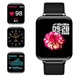 jpantech Smartwatch Orologio Fitness Uomo Donna Impermeabile IP68 Smart Watch Cardiofreque...