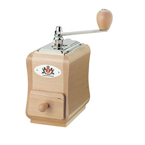 Zassenhaus Santiago Coffee Mill Grinder Beech Wood, 5.5 x 3.5 x 7.8, Natural varnish