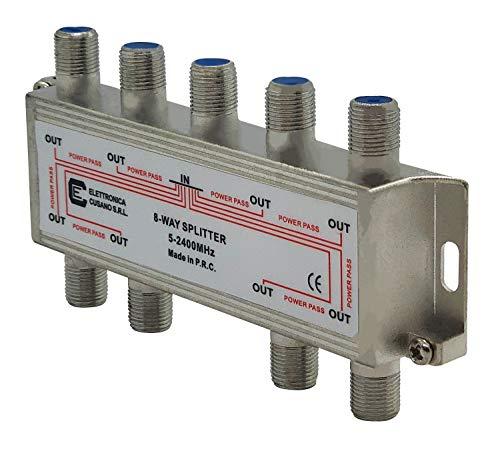6833–Répartiteur/répartiteur à 8Voies pour intérieur avec connecteur Effe pour TV/Sat