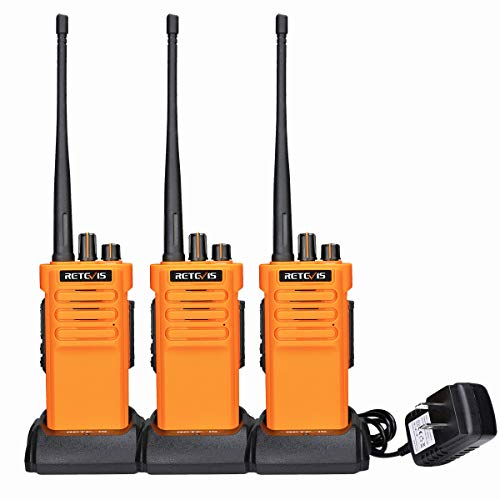 Retevis RT29 2 Way Radios Walkie Talkies Long Range, Heavy Duty High Power Two Way Radios, 3200mAh Battery, Hand Free, Remote Emergency Alarm, for Construction Warehouse Manufacturing(3 Pack)