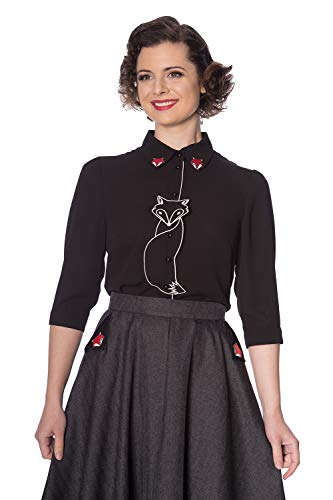 Dancing Days Camisa Banned Foxy Zorro Retro Vintage Rockabilly 1950