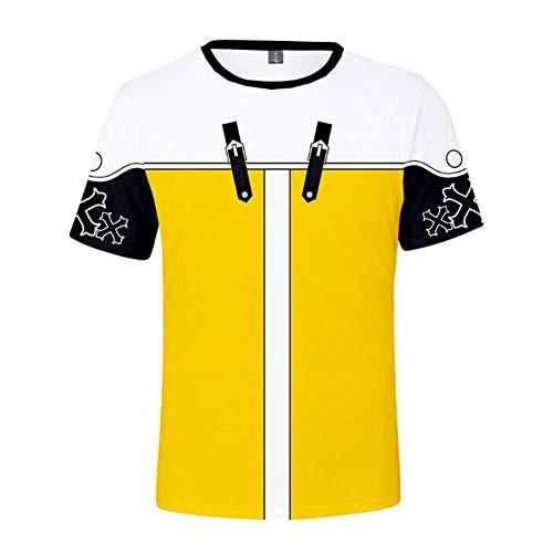 T-Shirt Manica Corta Uomo Manica Corta, Manica Corta Stampa Kingdom Heart 3D, T-Shirt Oversize con codice a Maniche Corte da Uomo Top-XXS-4L,D,S