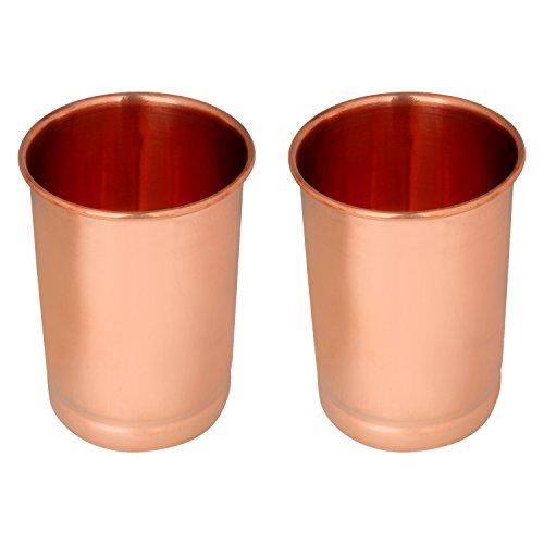 Zap Impex Juego de 2 vasos de cobre puro curación ayurvédica