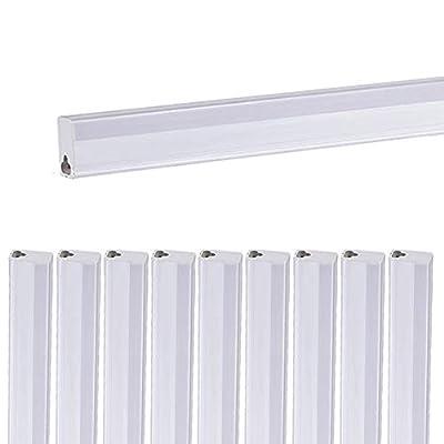 Papasbox 3ft T5 LED Light Tube, 14W 3100LM Linkable Integrated Single Fixture, 3000~6500K Under Cabinet Light, LED Shop Lights Linkable LED Ceiling Light, for Garage,Shelf, Workshop -10Pcs