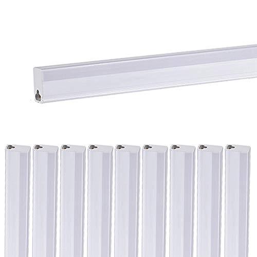 Bellanny Tubo LED 30cm, Lampadine a LED 5W, T5 LED-Flourescent Tube 3000K-6000K, Plafoniere LED per Officina, Ufficio, Bagno, Soggiorno, Camera da Letto, Scaffale-10 Pezzo