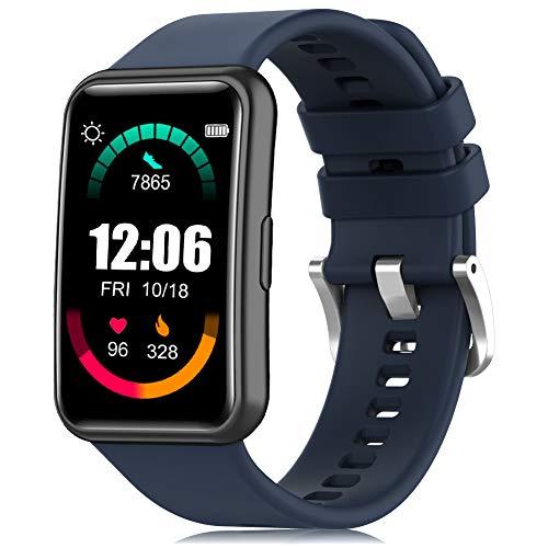 Tobheo Correa Compatible para Huawei Watch Fit Correa Silicona Mujer Hombre Ajustable Deportivo Pulsera Repuesto Compatible para Huawei Watch Fit (Sin Reloj)
