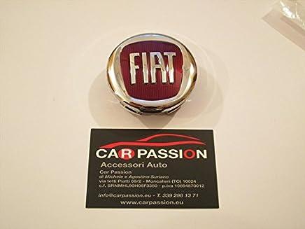 Carpassion - Embellecedor de aleación para tapacubos con insignia original Fiat