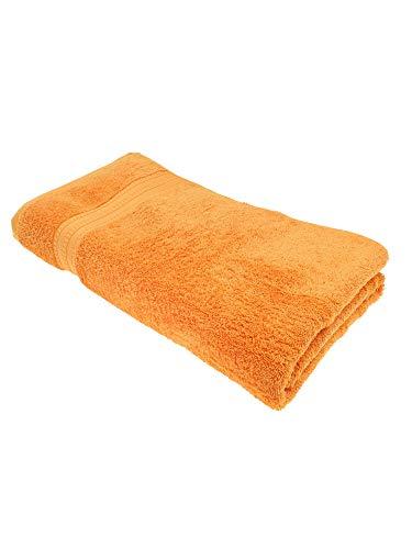 Julie Julsen Toallas de baño orgánicas en 32 colores, suaves y absorbentes, color naranja, 100 x 150 cm