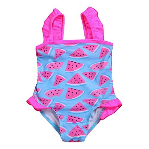 Maillots de Bain Bikini Plage Filles Bébé Strap Fruit Print Ruffled Eté Fashion Décontracté Swimsuit