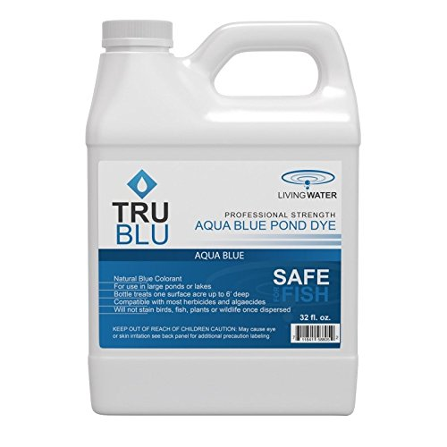 Airpro TruBlu Concentrated Pond Dye, Aqua Blue (1qt) - Concentrated Colorant Shades Water for Temperature Control - Safe for Swimming and Wildlife - Professional Strength