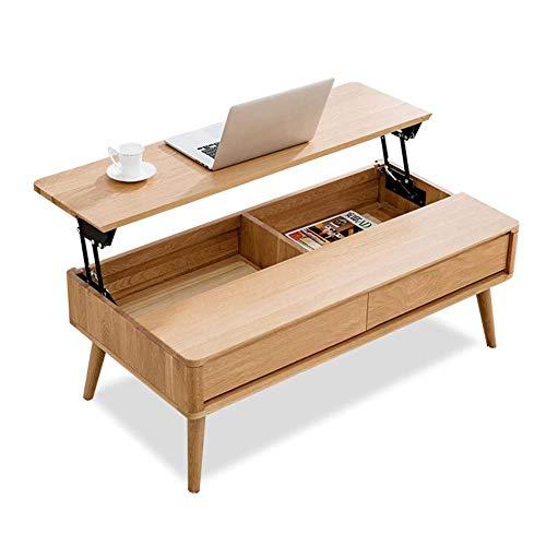 RJMOLU Tavolino con deposito Sollevare Il Tavolo da Cocktail del caffè Superiore Tavolo da Pranzo Multifunzione/Tavolo da tè/Tavolo da Telefono, Tavolo Laterale, mobili per Soggiorno