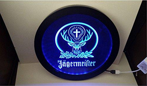 1A Products Jagermeister - Placa de Cerveza con luz LED RGB