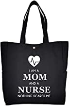 Funny Mom Nurse Work Tote Nurse Mother Gift Printed Nursing Bag Large Capacity