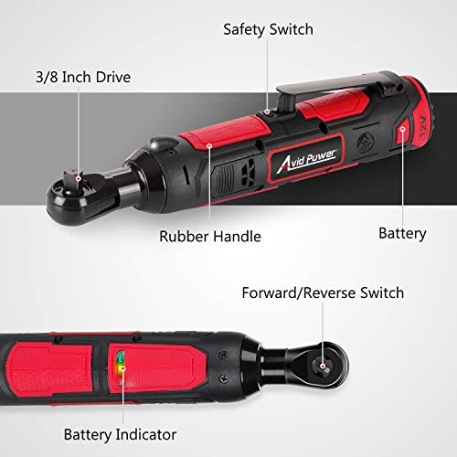 Cordless Electric Ratchet Wrench, 3/8