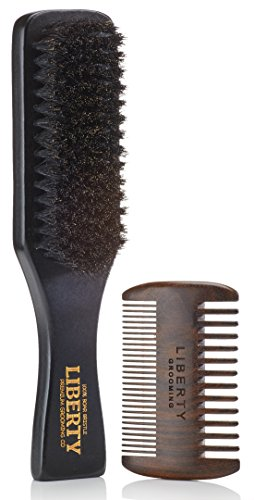 Beard Brush, Boar Bristle Beard Brush and Comb Set, Beard and Mustache...