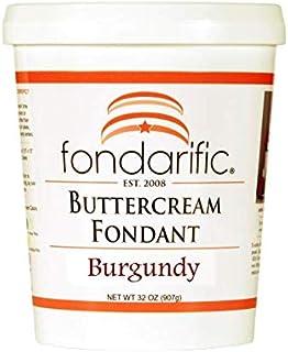 Fondarific Buttercream Burgundy Fondant, 2 Pound