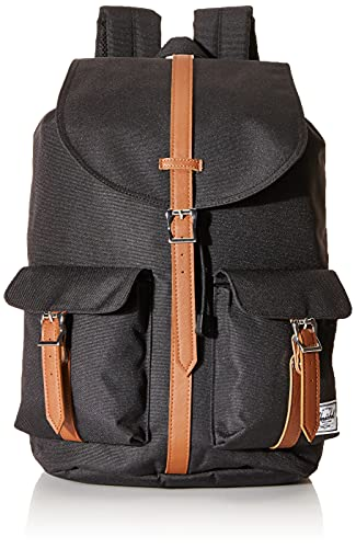 Herschel Dawson Backpack, Black/Tan Synthetic Leather, Classic 20.5L