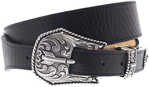 FB Fashion Boots Justin Belts Unisex Gürtel C13743 Westerngürtel Ledergürtel Schwarz 95 Zentimeter