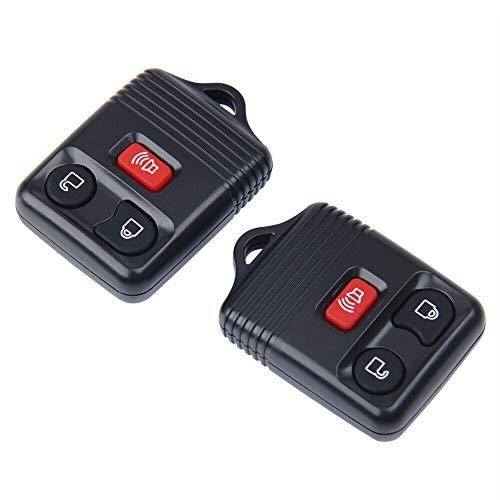 Entrada remota sin Llave la Caja de Control Remoto Key Fob 3 botón del transmisor de Clicker Reemplazo Compatible con Ford F150 2pcs