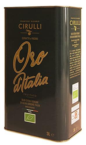 Cirulli Biologisch Extra vierge olijfolie Italiaans koud extract, Bio Can (3 Liter)