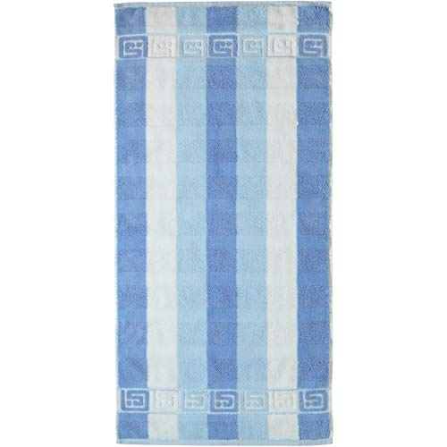 Cawö Home Handtücher Noblesse Blockstreifen 1011 blau/weiß - 10 Handtuch 50x100 cm