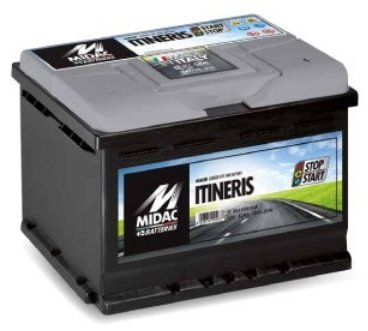 Start Stop Batterie Autobatterie Starterbatterie Midac Itineris 12V 80Ah 720A