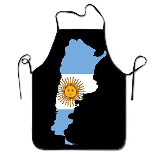 antvinoler Schürze mit extra langen Bändern, Männer und Frauen, Küchenschürze zum Kochen, Backen, Basteln, Gartenarbeit, Grillen, Flagge von Argentinien – Argentinien