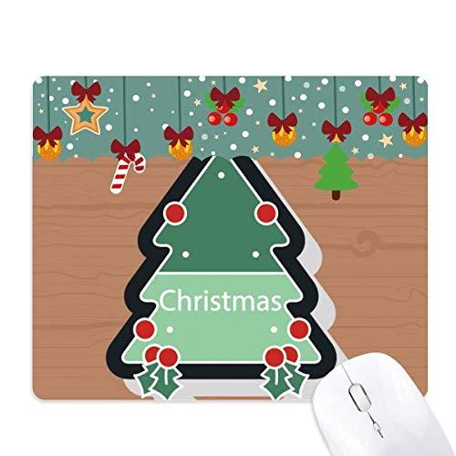 Mauspad mit Weihnachtsmotiv und Weihnachtsbaum-Motiv, Gummi