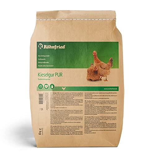 Röhnfried - Puur kiezelgoer (3000 g) - natuurzuivere kiezelaarde in poedervorm - voor je kippenhok, konijnenhok, tuin en huis - goed te gebruiken bij konijnen, kippen en gevogelte
