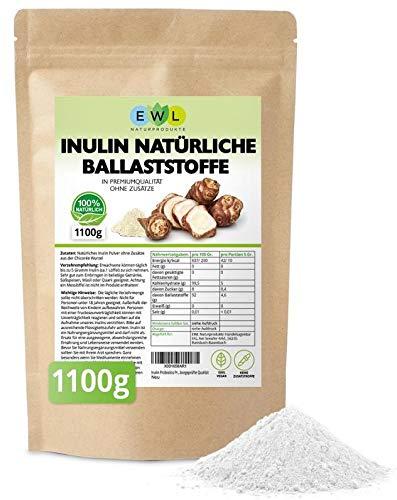 Inulin Probiotics Prebiotic Inulin Pulver 1100 Gramm aus der Chicoree-Wurzel Ballaststoffpulver Hochwertige Laborgeprüfte Qualität