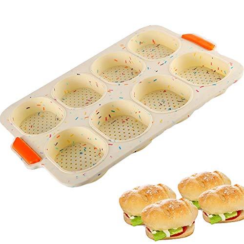 Mini Baguette Backblech Silikon Backform Antihaft Backform Brot Tray Backblech Antihaft Brotbackform Silikon Backformwerkzeug BPA Frei 1 Stück für DIY Toast Kuchen Brot Muffin für Ofen Mikrowelle