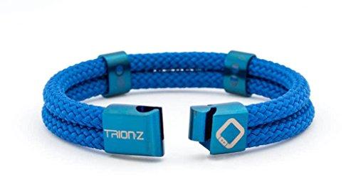 Trion:Z Zen Loop Duo Braccialetto Terapeutico agli Ioni con Tecnologia ANSPO Patentata per Sollievo dal Dolore delle Articolazioni Artrite Tunnel Carpale Polso e Lesioni Sportive -Il Regalo Perfetto