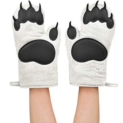 Ourine Bear Oven Insulation Gloves - Manopla para Horno (1 par, antiquemaduras), como se Muestra en la Imagen.