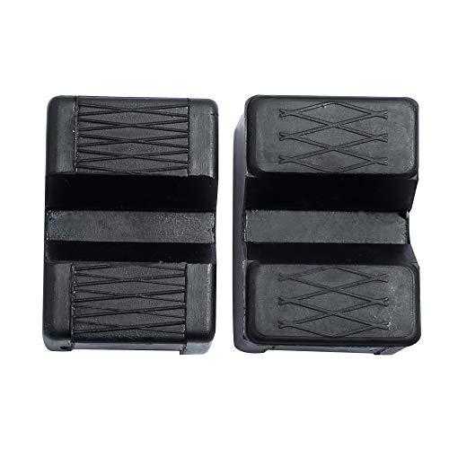 Dihoo ジャッキスタンド用パッド ラバークッション ラバークッションゴム 耐久性向上 特殊繊維入りジャッキ汎用ゴムパット (2個入り 方形)