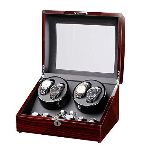 Yxx max Yxx max Uhrenbeweger fur automatikuhren Uhrenbeweger Boxen Automatischer Uhrenbeweger Holzkiste Klavierlack Super Ruhig, Für Automatikuhren, 4 + 6 Uhrspeicher