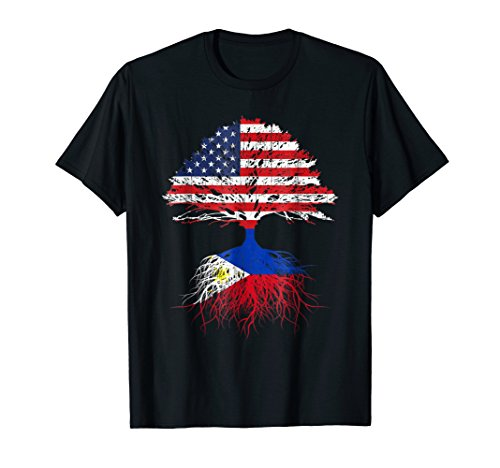 Filipino Roots American Grown Philippines Flag Shirt Gift