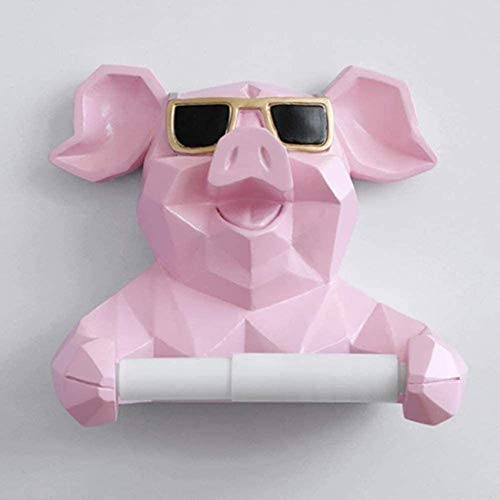 FCYQBF Toilettenpapierhalter für Badezimmer, kreatives Schwein, Badezimmer, Toilette, Hygienetablett, gratis Stanzen, Hygienekarton, Taschentuchbox, Rollenpapier